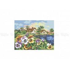 10-378 (30*40) Просыпающиеся цветы. Схема для вышивки бисером Бисерок