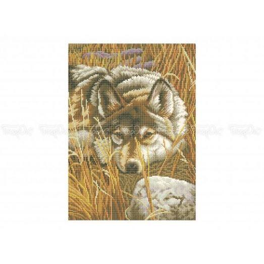 50-317 (30*40) Волк. Схема для вышивки бисером Бисерок