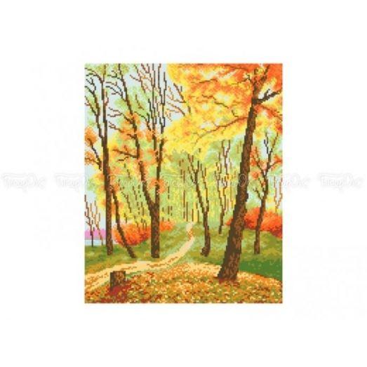 10-310 (30*40) Осенний лес. Схема для вышивки бисером Бисерок