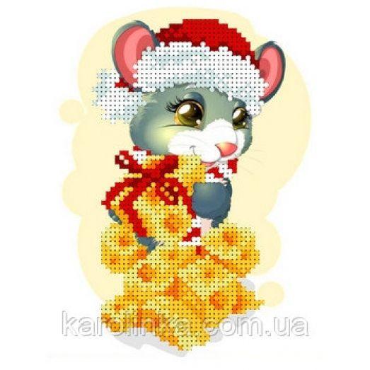 КБЖ-5036 Мышка с сыром. Схема для вышивки бисером. Каролинка ТМ