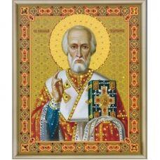 КСИ-024 Икона Святителя Николая Чудотворца. Набор для изготовления иконы со стразами ТМ Чаривна Мить