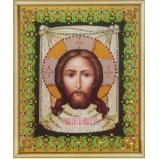 КСИ-052 Образ Господа Нашего Иисуса Христа. Набор для изготовления иконы со стразами ТМ Чаривна Мить