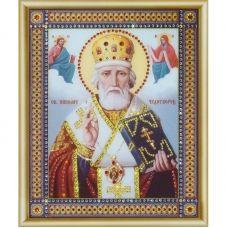 КСИ-046 Икона Святителя Николая Чудотворца. Набор для изготовления иконы со стразами ТМ Чаривна Мить