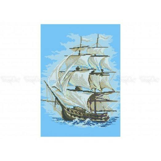 60-305 (30*40) Белые паруса. Схема для вышивки бисеромБисерок