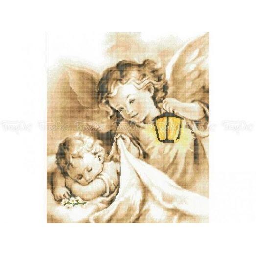 40-219 (40*60) Ангелочки. Схема для вышивки бисером. Бисерок