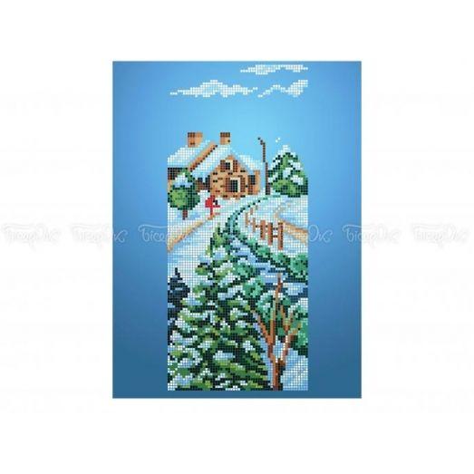 10-411 (20*25) Зима. Схема для вышивки бисером Бисерок