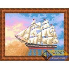 ФР-ПБп2-010 Корабль в море. Схема для вышивки бисером ТМ Фурор