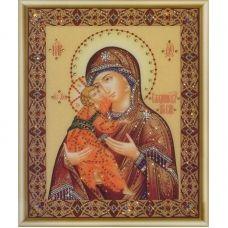 КСИ-054 Икона Божьей Матери Владимирская. Набор для изготовления иконы со стразами ТМ Чаривна Мить