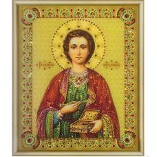 КСИ-051 Икона великомученика и целителя Пантелеймона. Набор для изготовления иконы со стразами ТМ Чаривна Мить