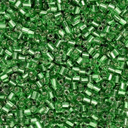 57100 Рубка Preciosa прозрачная зеленая с серебряной серединкой