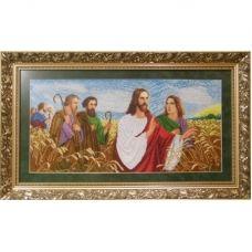 ІАП (набор) Иисус с апостолами в поле. Набор для вышивки бисером БС Солес