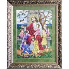 ІБД (набор) Иисус благословляет детей. Набор для вышивки бисером БС Солес