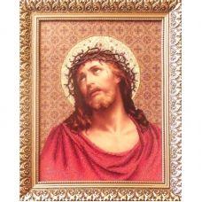 ІТВ (набор) Иисус в терновом венке. Набор для вышивки бисером БС Солес
