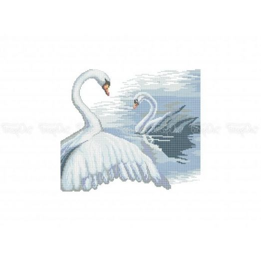 70-307 (30*40) Лебеди. Схема для вышивки бисером Бисерок