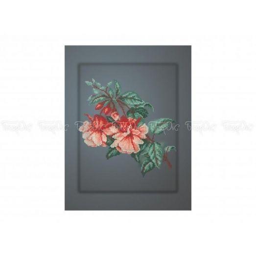 30-338 (30*40) Волнующий цветок. Схема для вышивки бисером Бисерок