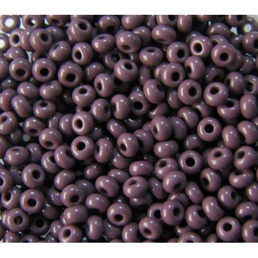 23040 Бисер непрозрачный, фиолетовый, натуральный