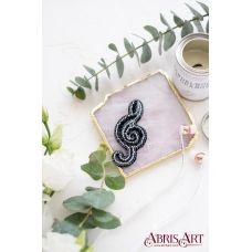 AD-051 Набор для вышивки бисером украшения Скрипичный ключ. ТМ Абрис Арт