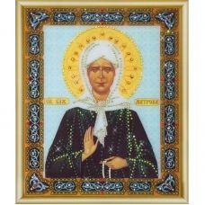 КСИ-129 Икона св. блаженной Матроны Московской. Набор для изготовления иконы со стразами ТМ Чаривна Мить