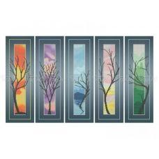 ЧМ-А3-032 Триптих Деревья. Схема для вышивки бисером. Бисерок