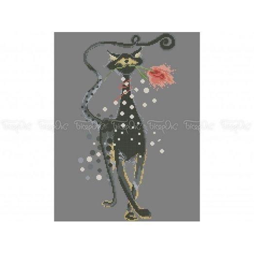 50-353 (30*40) Котик. Схема для вышивки бисером. Бисерок