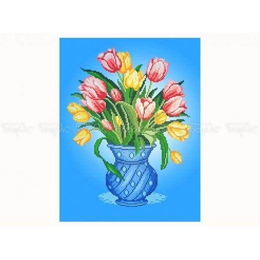 30-351 (30*40) Тюльпаны. Схема для вышивки бисером Бисерок