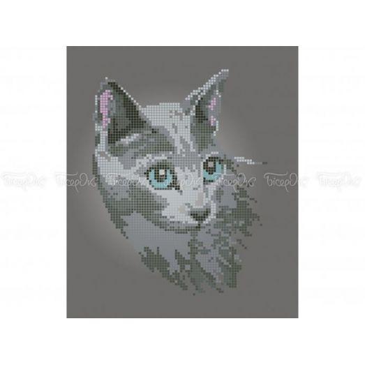 50-402 (20*25) Кошка. Схема для вышивки бисером Бисерок