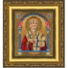 Б-1230 Икона святителя Николая Чудотворца. Набор для вышивки бисером Чаривна Мить