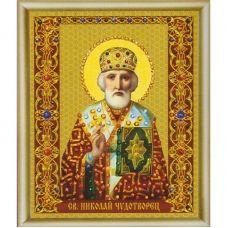 КСИ-133 Икона святителя Николая Чудотворца. Набор для изготовления иконы со стразами ТМ Чаривна Мить