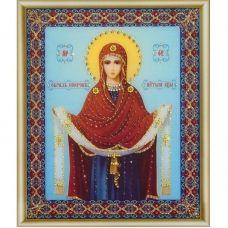 КСИ-148 Икона Покров Пресвятой Богородицы. Набор для изготовления иконы со стразами ТМ Чаривна Мить
