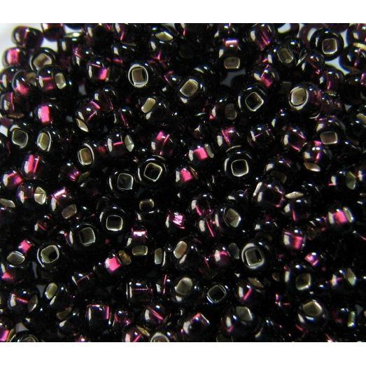 27080 Темный фиолетовый, серебряная серединка