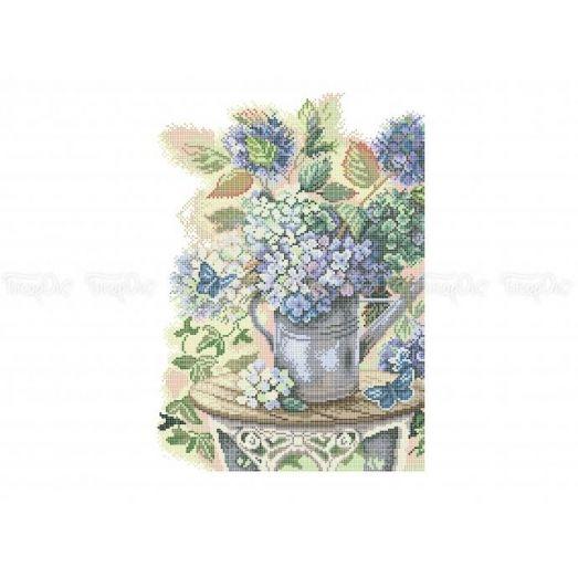 30-331 (30*40) Садовый букет. Схема для вышивки бисером Бисерок