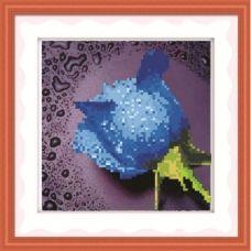 9186 Роса на розе (голубой)