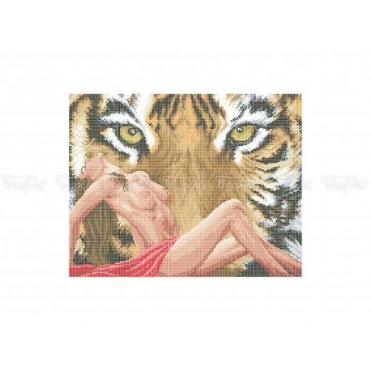 50-323 (30*40)  Тигрица. Схема для вышивки бисером Бисерок