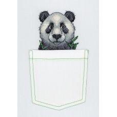 В-241 Веселая панда. Набор для вышивки крестом МП Студия
