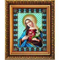 Б-1232 Непорочное сердце Марии. Набор для вышивки бисером Чаривна Мить