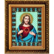 Б-1231 Пресвятое сердце Иисуса. Набор для вышивки бисером Чаривна Мить