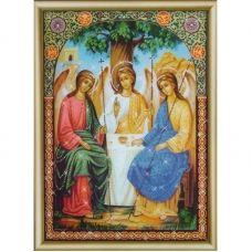 КСИ-180 Икона Пресвятой Троицы. Набор для изготовления иконы со стразами ТМ Чаривна Мить
