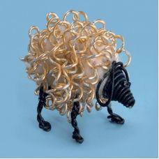 ДП-005 Овца счастья. Набор с декоративной проволкой ТМ Чаривна Мить