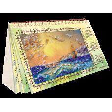 АКМ-001 Календарь. Шум прибоя. Набор для вышивки бисером Абрис Арт