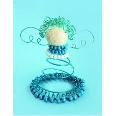 ДП-002 Ангел в синем. Набор с декоративной проволкой ТМ Чаривна Мить