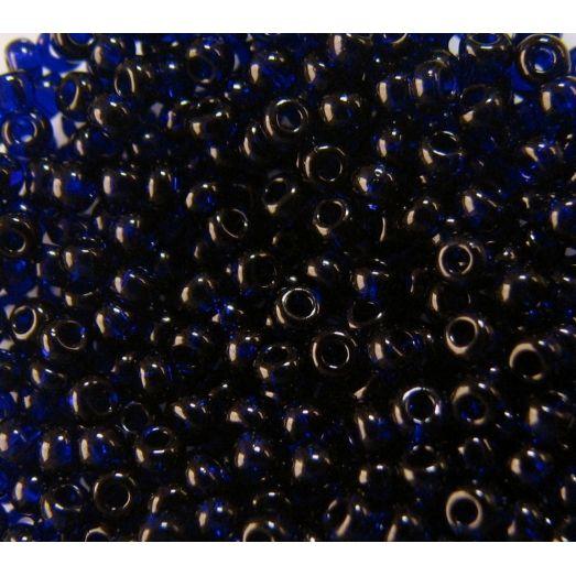 30110 Бисер прозрачный, тёмный синий, натуральный