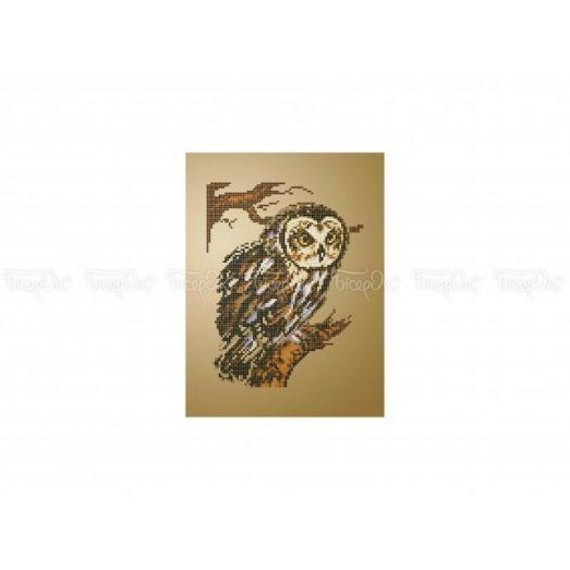 70-400 (20*25) Мудрая сова. Схема для вышивки бисером Бисерок