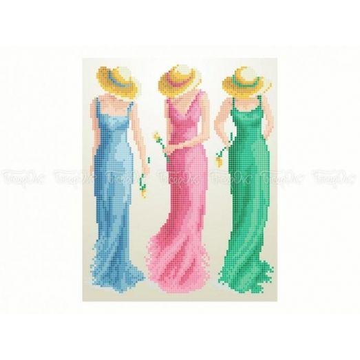 40-416 (20*25) Подружки. Схема для вышивки бисером Бисерок