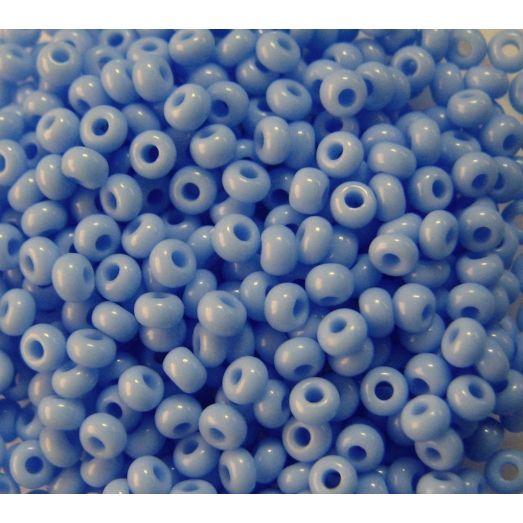 33020 Бисер не прозрачный, светлый синий, натуральный