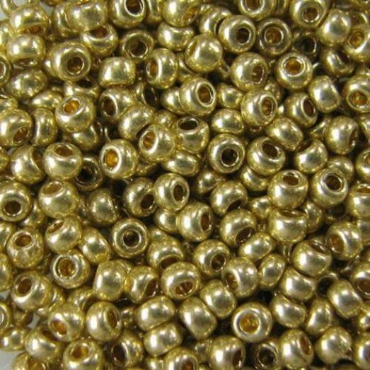 18151 Бисер Preciosa сольгель золотой металлик