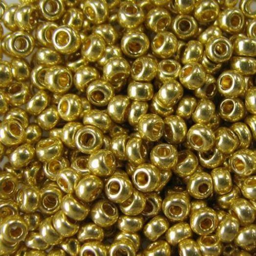 18181 Бисер Preciosa сольгель золотой металлик