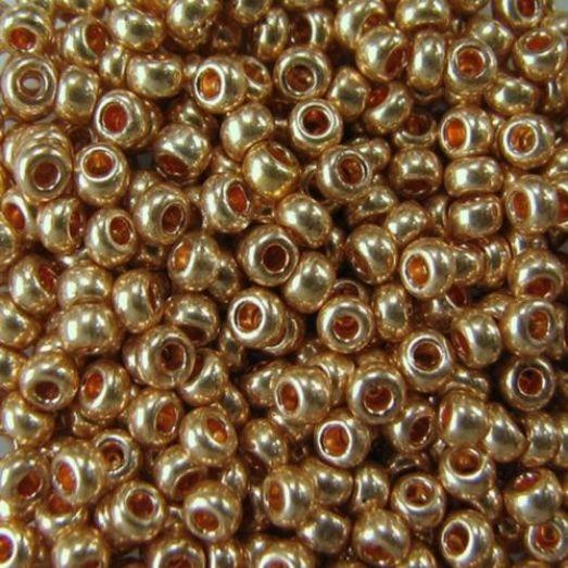 18184 Бисер Preciosa сольгель бронзовый металлик