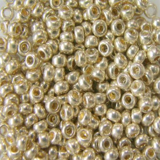 18303 Бисер Preciosa сольгель жемчужный металлик