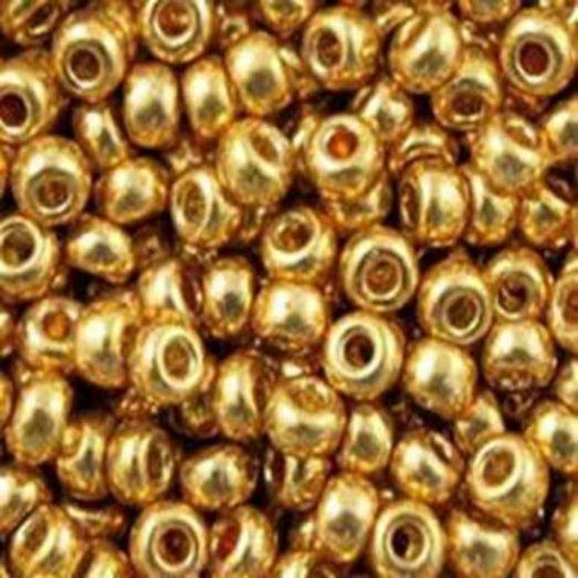 18383 Бисер Preciosa сольгель жёлто-золотой металлик