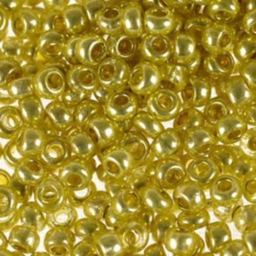 18386 Бисер Preciosa сольгель золотой металлик